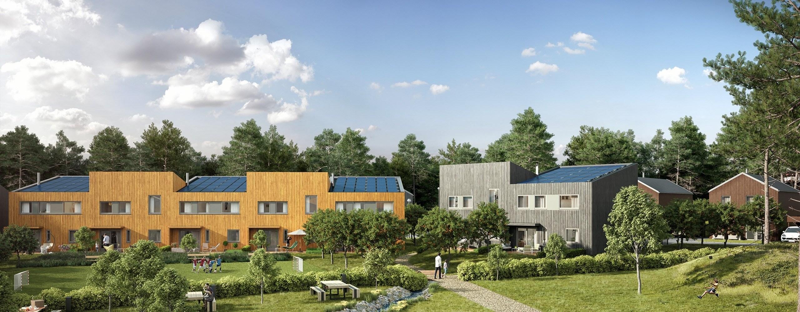 På Furumo får 72 boliger solcellepaneler